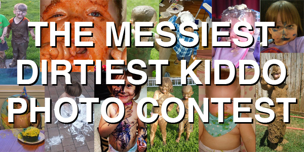 Badadadadadada, it's time to vote for the hilariously awesome finalists in the Messiest Dirtiest Kiddo Photo Contest