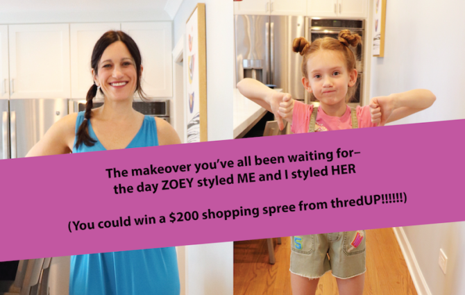 The makeover you've all been waiting for– the day ZOEY styled ME and I styled HER (you could win a $200 giveaway from thredUP!!!!!!)