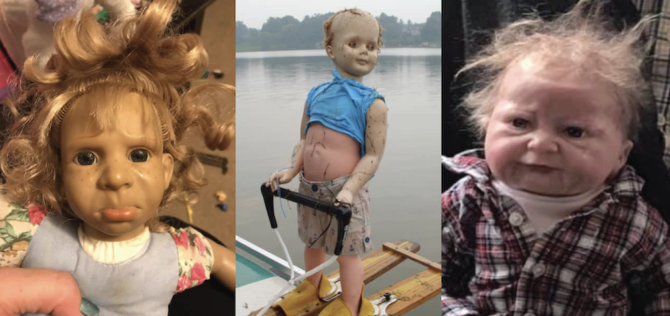 All dolls are scary, but these ones take the cake… knife… and kill you with it