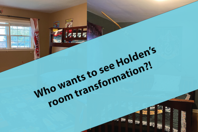 Want to see Holden's new kickass Harry Potter bedroom?!